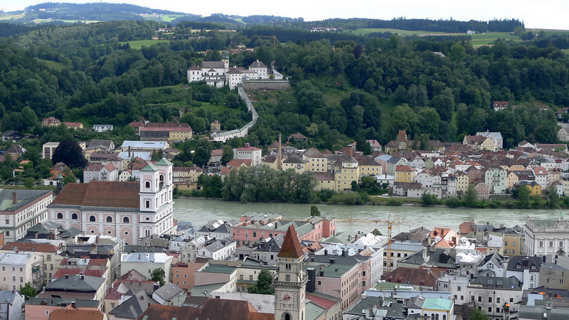 View from the top of the Veste Oberhaus