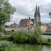Regensburg cathedral. The church is the prime example of Gothic architecture in southern Germany.
