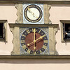 Town clock with movable figures
