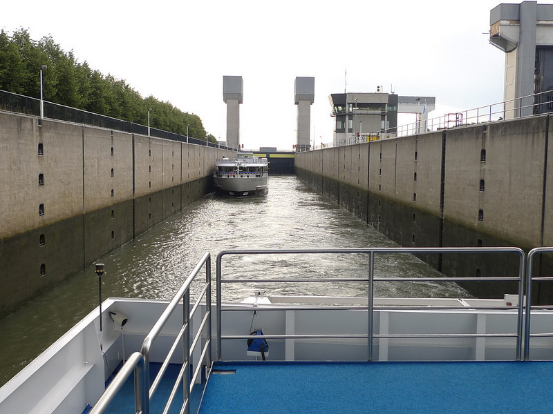 One of the 68 locks we passed through on our trip from Budapest to Amsterdam.