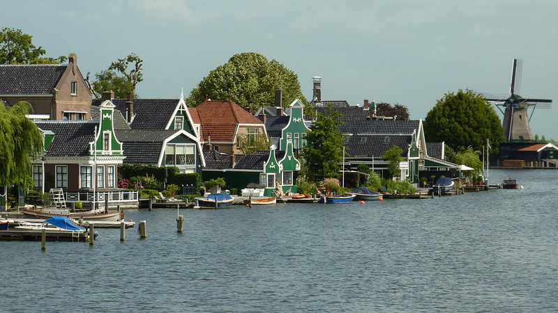 View across the river Zaan