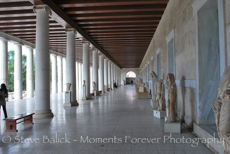 The Ancient Agora, or Marketplace, in Athens at the base of the Acropolis.