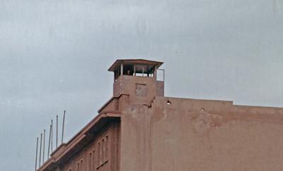 East German guard tower looking west