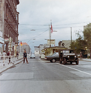 Checkpoint Charlie in West Berlin 1967
