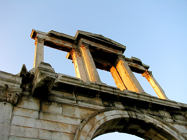 Hadrian's Arch Athens, Greece January 2008