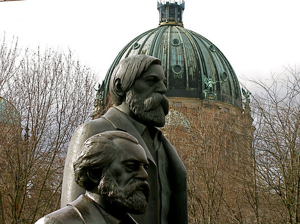Marx and Engels, Berlin Germany March 2008