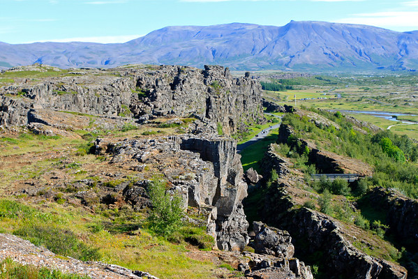Almannagja, where the continental plates are drifting apart