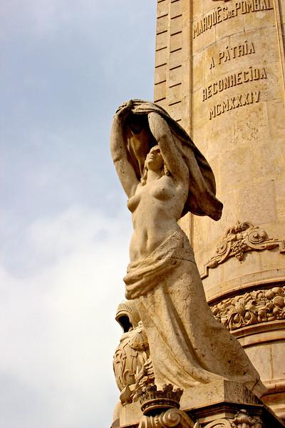 Rotunda Marques de Pombal statuary