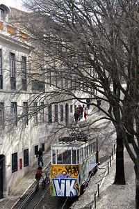 Gloria funicular Lisbon, Portugal March 2013
