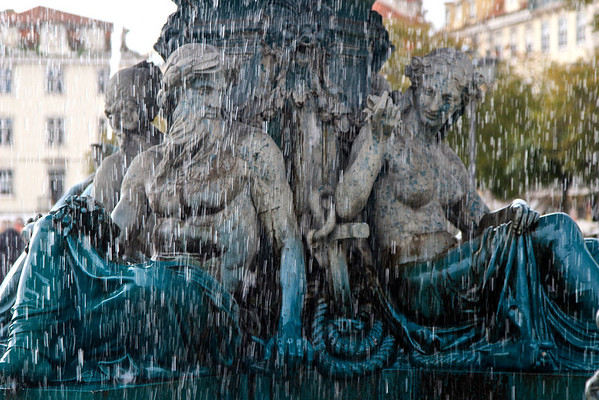 Fountain in Rossio Square