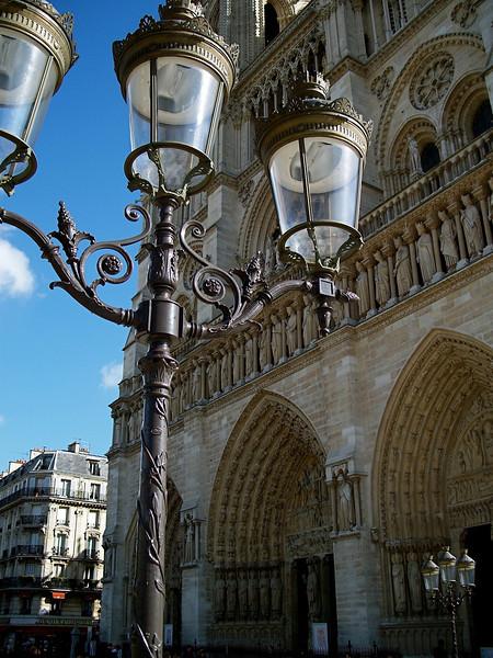 Notre Dame detail Paris, France March 2007