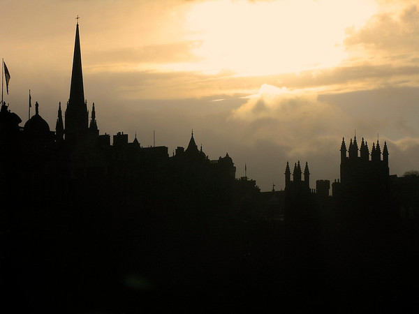 Foggy Edinburgh morning