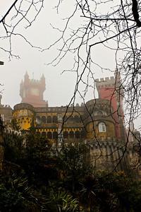 Pena Palace, mid-storm
