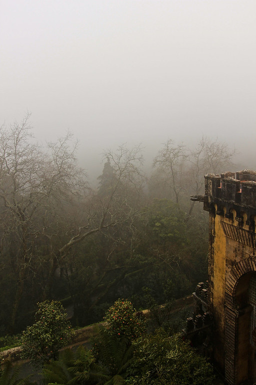 Pena Palace in storm Sintra, Portugal March 2013