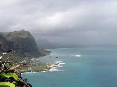Saturdays trip to Makapu'u point, this is the view from the top looking down the Windward coast, can't see all that much due to the cloud cover