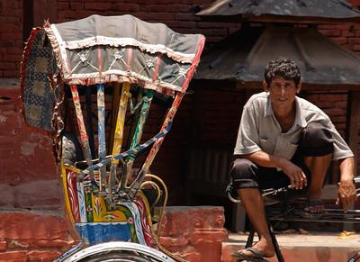 Rikshaw driver, Kathmandu