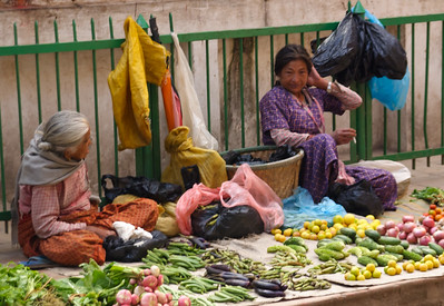 Street market, Thamel District, Kathmandu