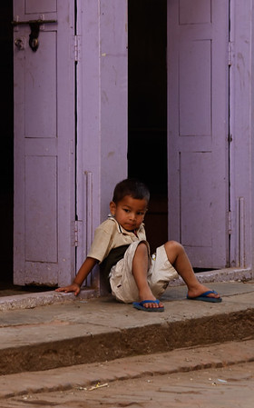 Child in doorway, Bhaktapur