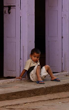 Child in doorway, Bhaktapur