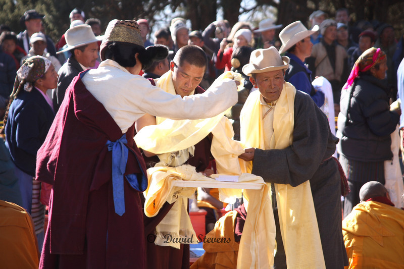 94 ceremonial scarves