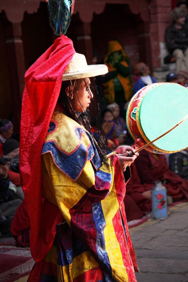 101 Dorje Trollo Monk with drum