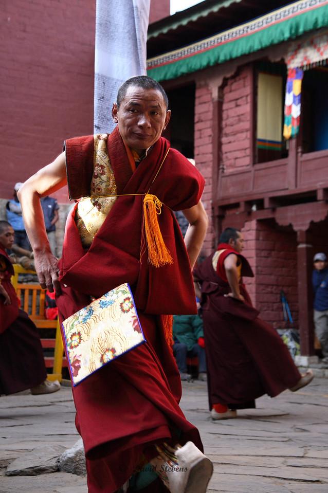82 Monks practicing dance