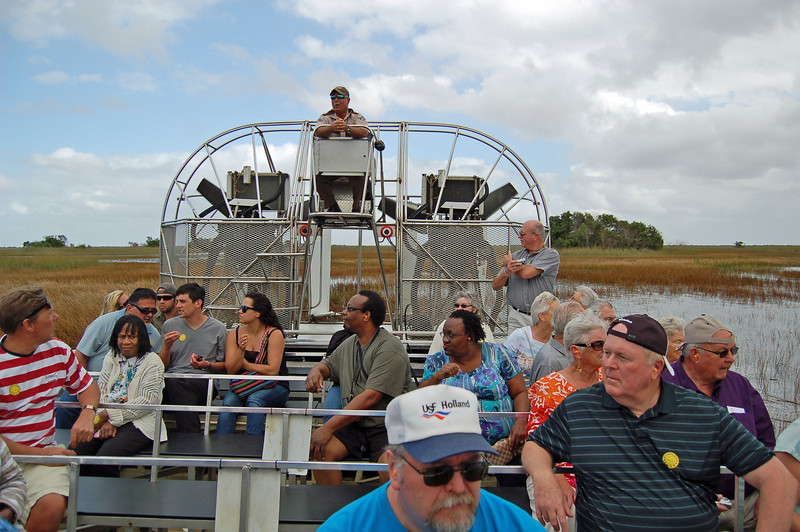 Starting the Air Boat Ride