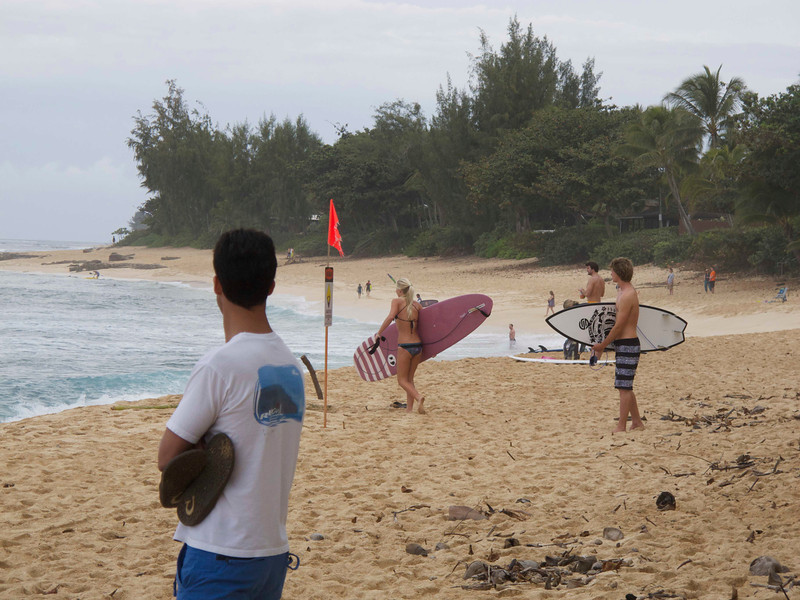 """A normal surfing day with lots of """"average"""" surfers out."""