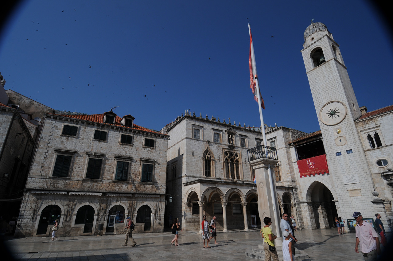 Orlando Square in Dubrovnik