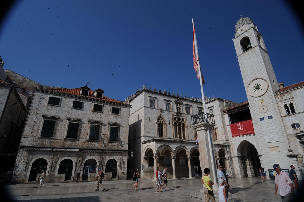 Orlando Square in Dubrovnik