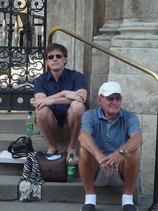 Taking a break from the heat at Krakow Castle
