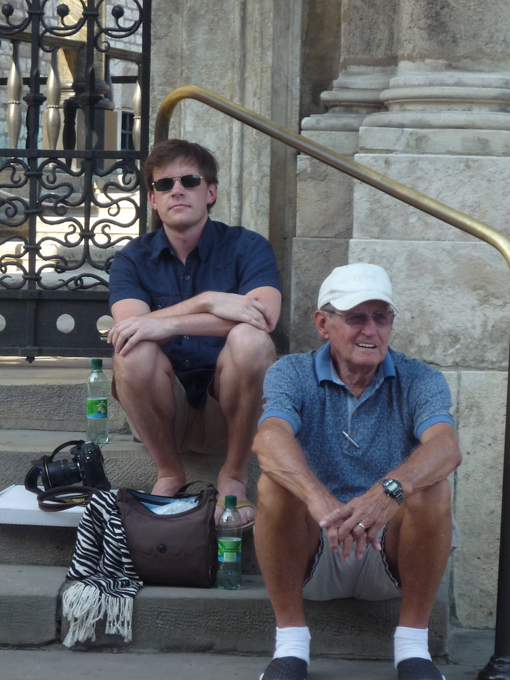 Taking a break from the heat at Krakow Castle