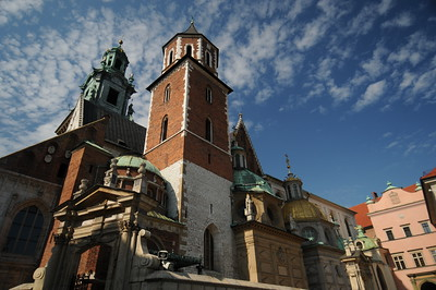 Krakow Castle.  That's a hot mess of architecture styles there.