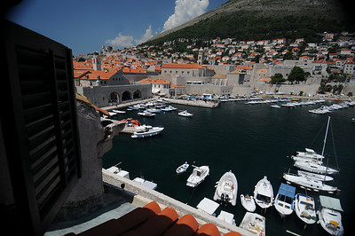 The view from our apartment in Dubrovnik, Croatia