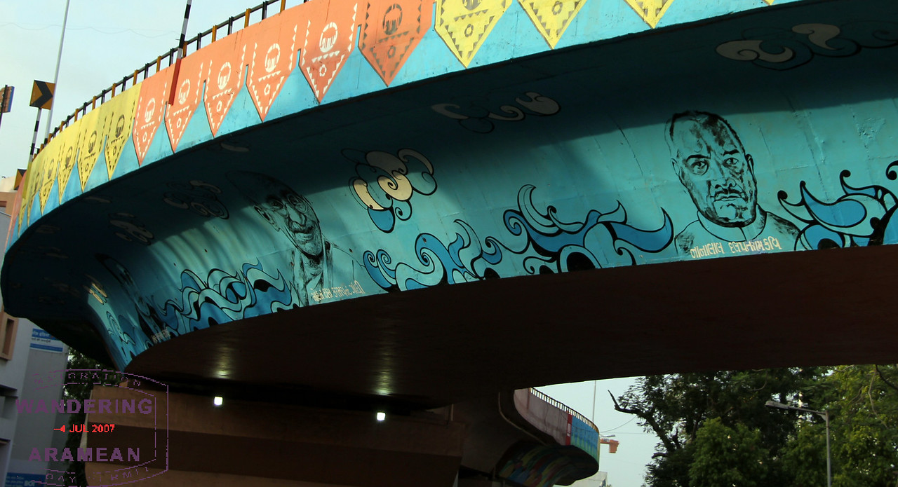 Cool art on the flyover