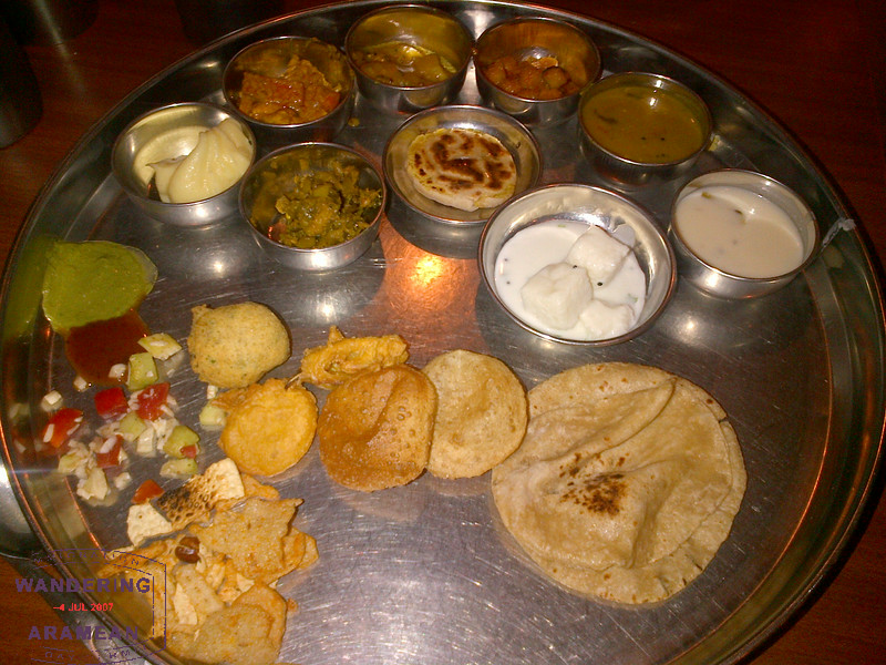 Thali platter. So yummy.