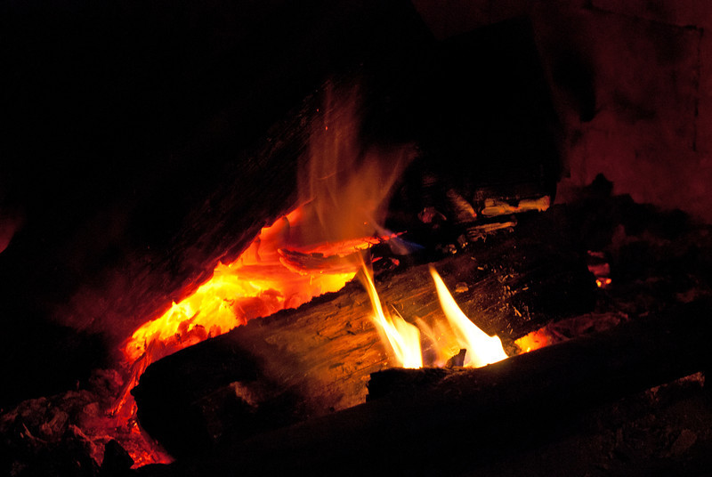 The fire kept us warm, and was perfect for toasting marshmallows.