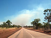 Where there is smoke...<br /> Great Northern Highway between Fitzroy Crossing and Broome