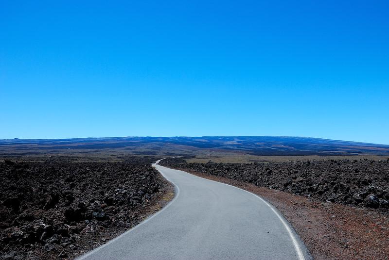 Mauna Loa access road at 7000 ft elevation.