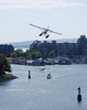 Sea plane coming in for a landing.