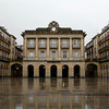 Plaza de la Constitucion (San Sebastian) in the rain.