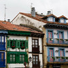 The old town of Hondarribia has lots of very nice houses, some rather colorful