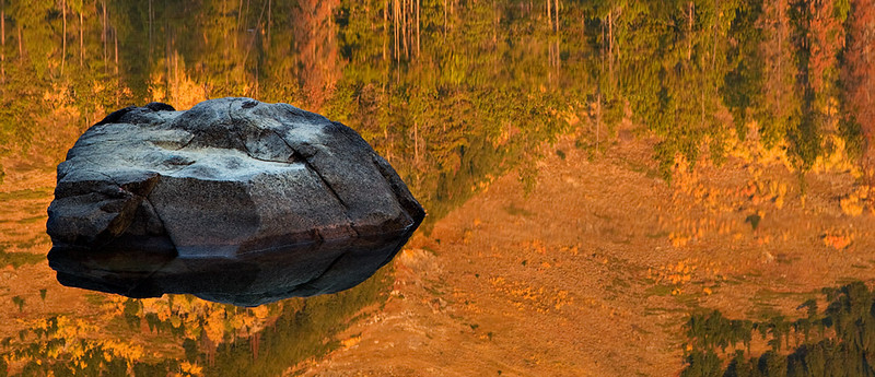 ROCK IN THE REFLECTION