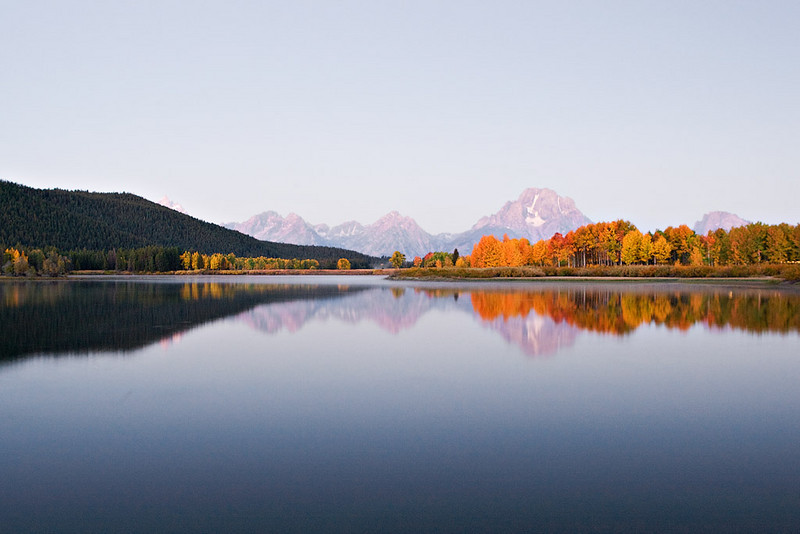 EARLY LIGHT AT OXBOW BEND OF THE SNAKE RIVER