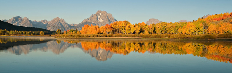 OXBOW BEND FALL DISPLAY
