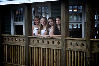 Key West on Christmas Day. Ana, Riley, Kali & Cassie