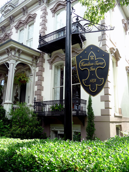 The Hamilton Turner Inn, our B&B in Savannah