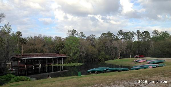 Kayak & canoe rental area @ Wekiva Falls RV Resort, Sorrento, FL - March 2016