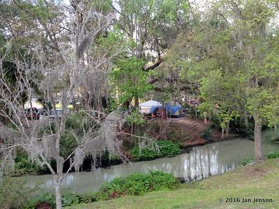 Tent camping area @ Wekiva Falls RV Resort, Sorrento, FL - March 2016
