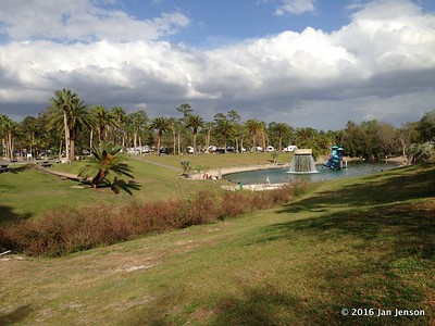 The sulfur springs at Wekiva Falls RV Resort, Sorrento, FL - March 2016